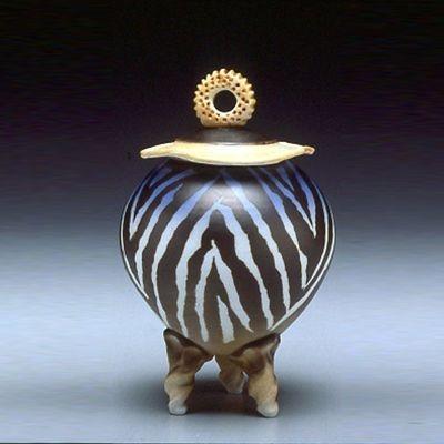 Tripod Covered Jar