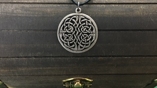 Celtic Knot Pendant, Irish, Celtic, Shield Ravens