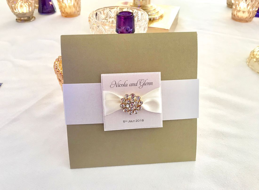 Wedding Invitations with Belly Band