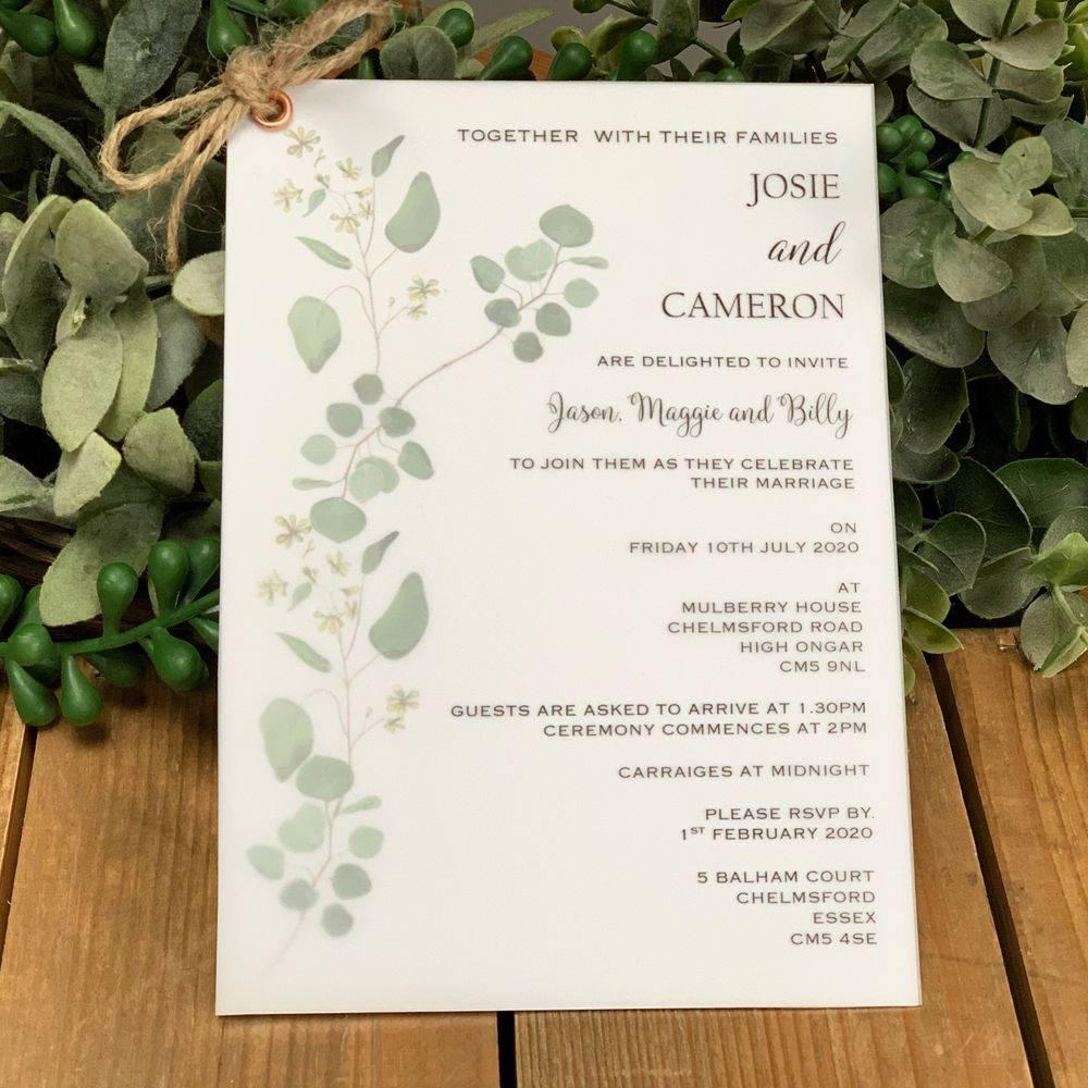 Layered wedding invite