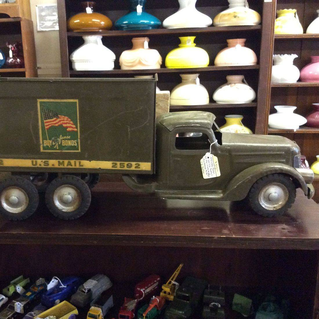 1940's/1950's Korean War Era 'Buddy L.' , U.S. Mail Truck #2592 (no cargo box top)   $375.00