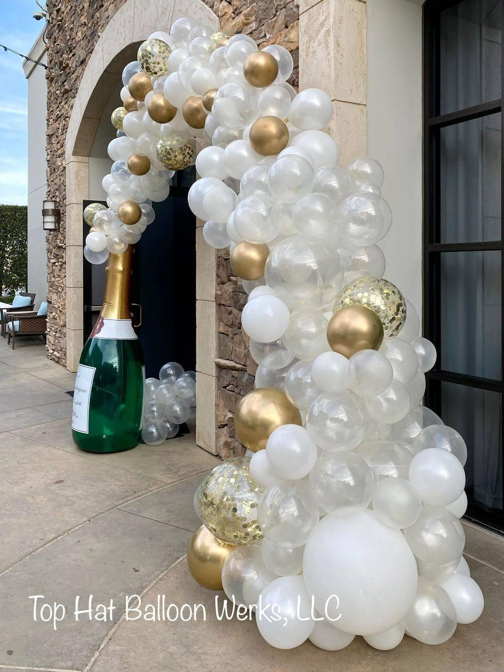 Champagne Balloon Arch