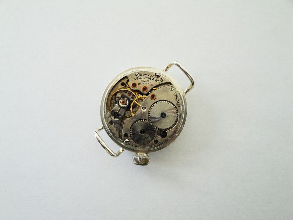 WWI Offset Crown Waltham Trench Watch