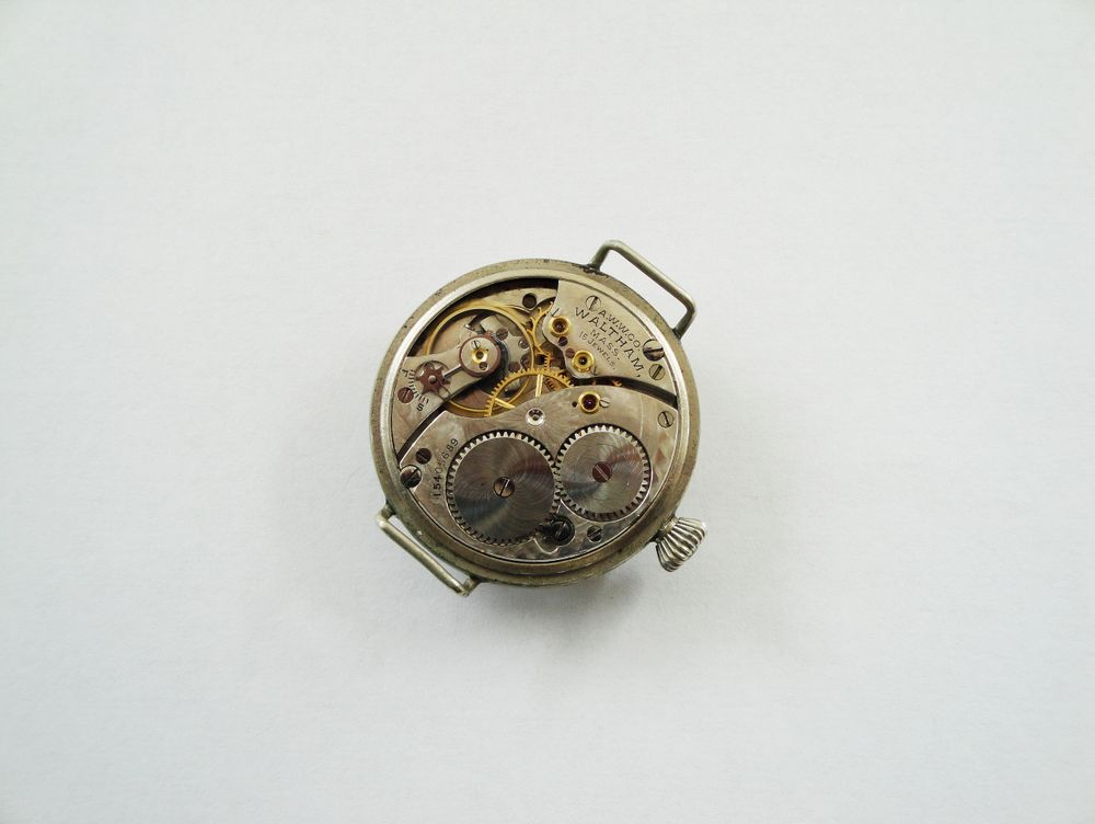 WWI Waltham Trench Watch, Mealy DUO Crystal Guard