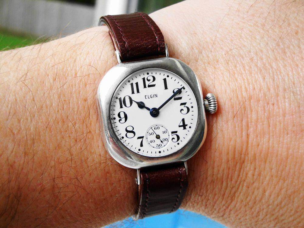 "Lt. William F. Stewart's 1917 WWI Elgin ""Admiral Benson"" Trench Watch of the 27th Aero Squadron, 1st Pursuit Group"