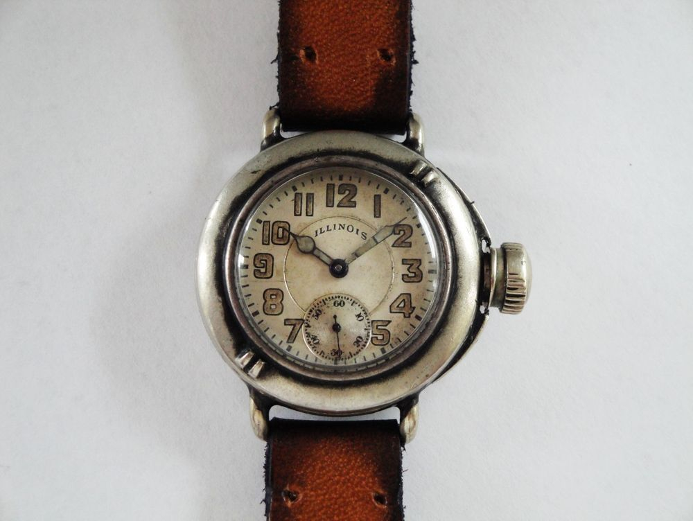 "1919 Illinois Depollier ""Field & Marine"" Waterproof Watch, US Army ISSUED"
