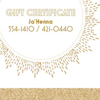 Henna Gift Card, Gift Certificate, Henna, Henna Card