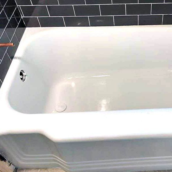 Bathtub after reglazing