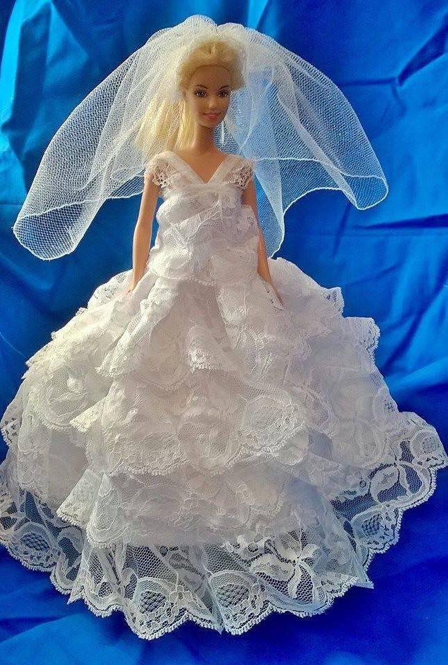Barbie Wedding, Barbie Gown, Barbie Clothes, Doll Clothes