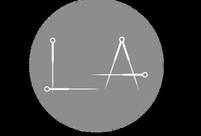 Logo La acupuncture needles grey circle