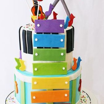 Custom Music Instruments Cake Milwaukee