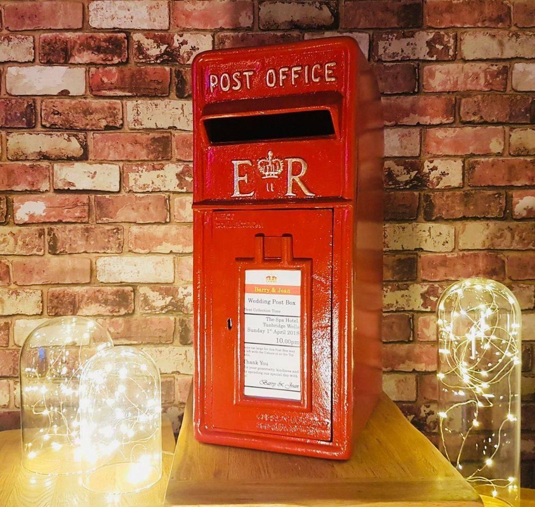 Red post box, red royal mail box, wedding, birthday, post box for wedding, post box for hire
