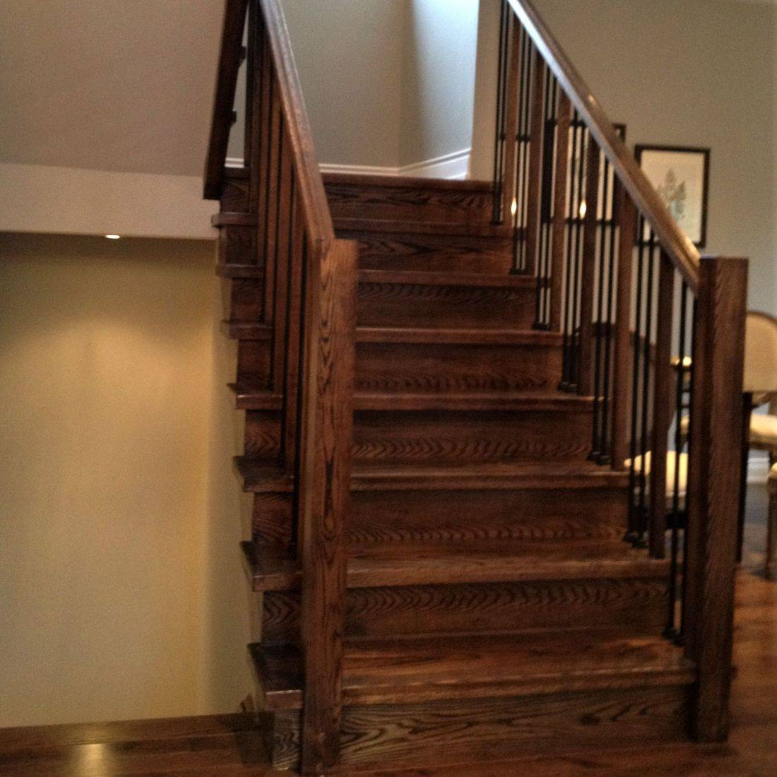 Guelph Custom Oak Stairs With Steel Railing