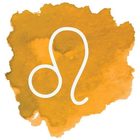 Image: watercolor Leo symbol