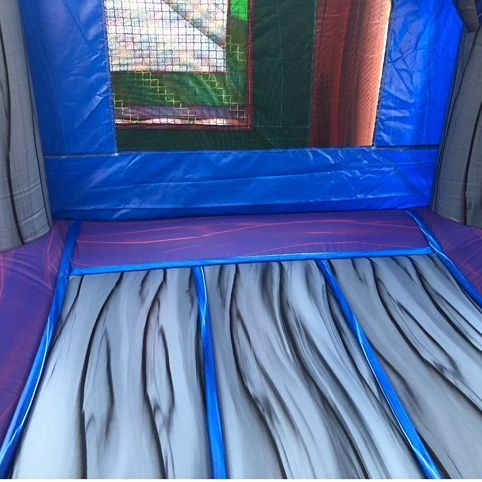 Happy Birthday Purple Castle Bounce House Water Slide Combo