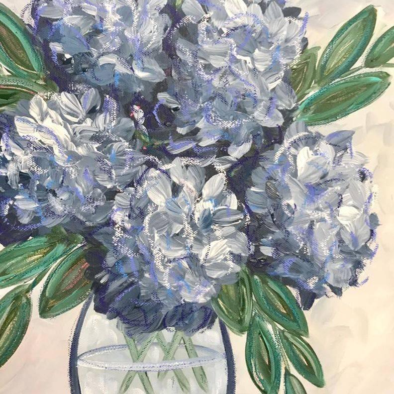 paint class hydrangea bouquet