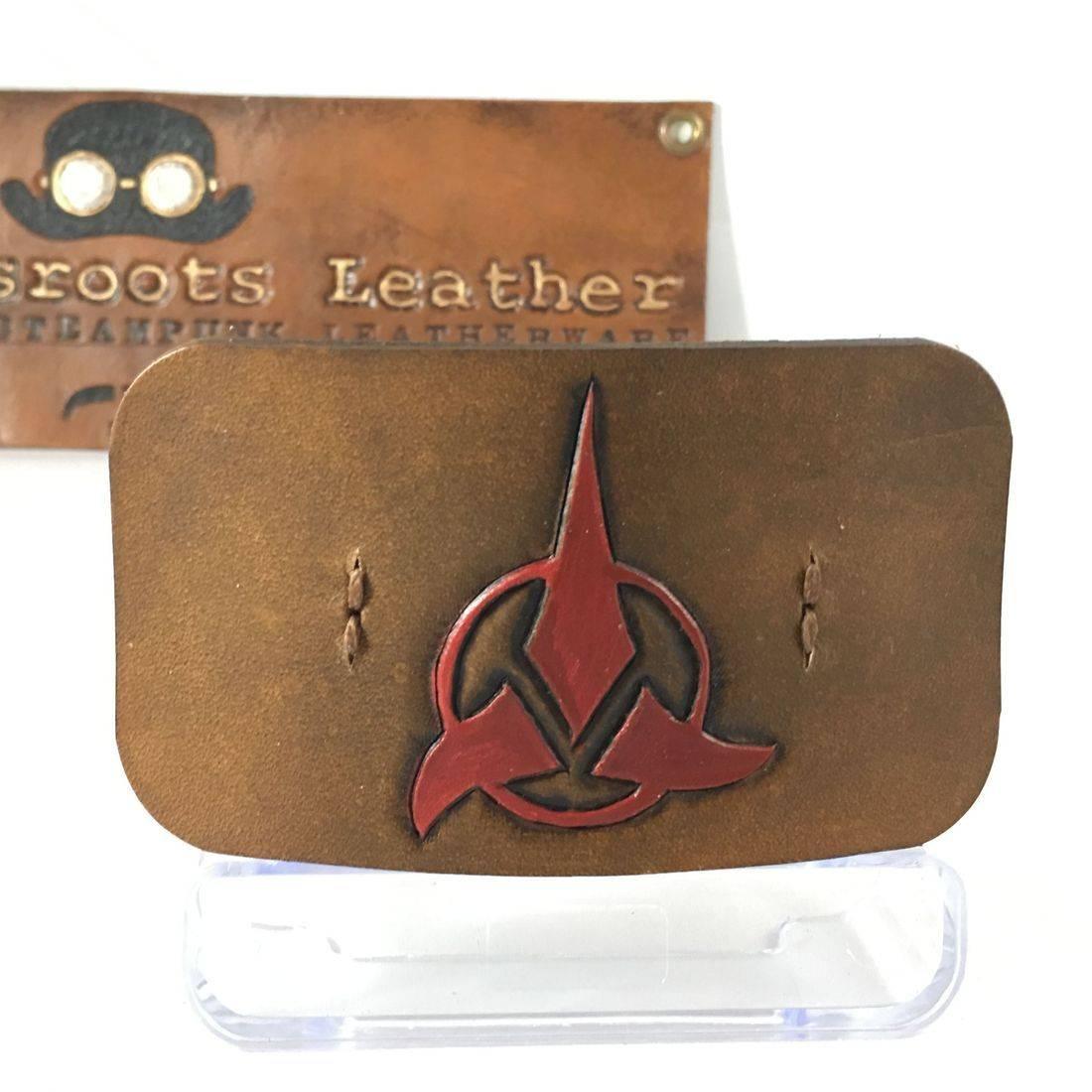 Leather Hair Clip Klingon (brown)