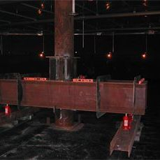 API 653 Welded steel storage tank centerpole stabilization and lifting.