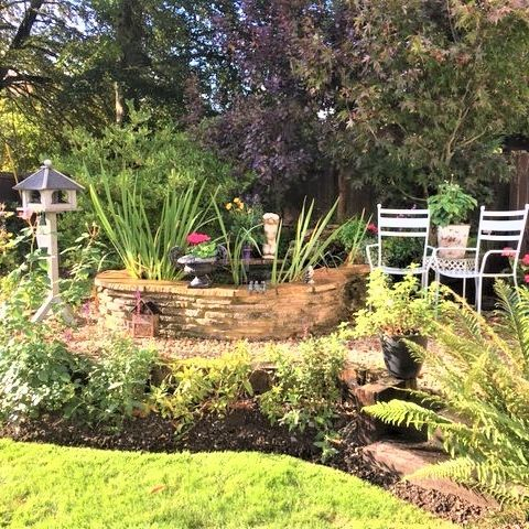 Country garden Summer planting roses astrantia salvia