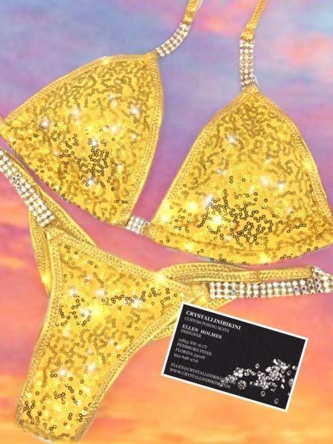 sequin competition bikini