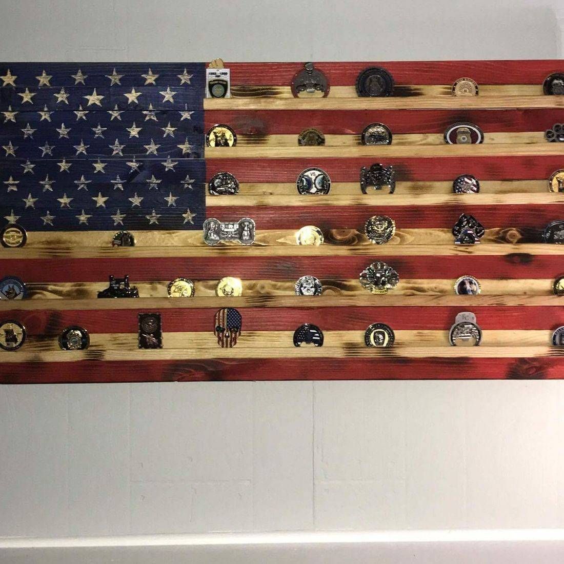 Challenge coin handcrafted flags