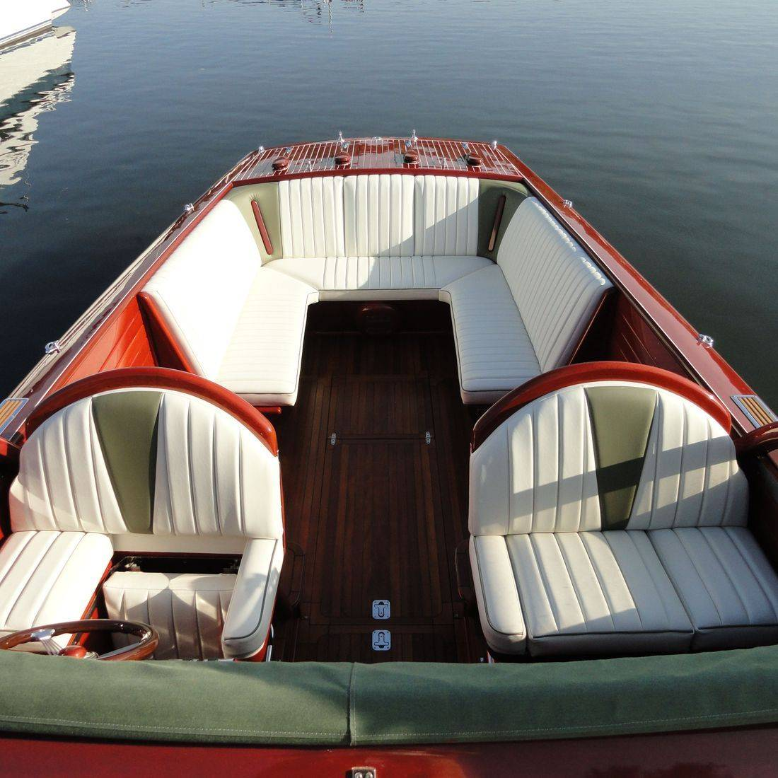 custom upholstery on 27 shepherd boat