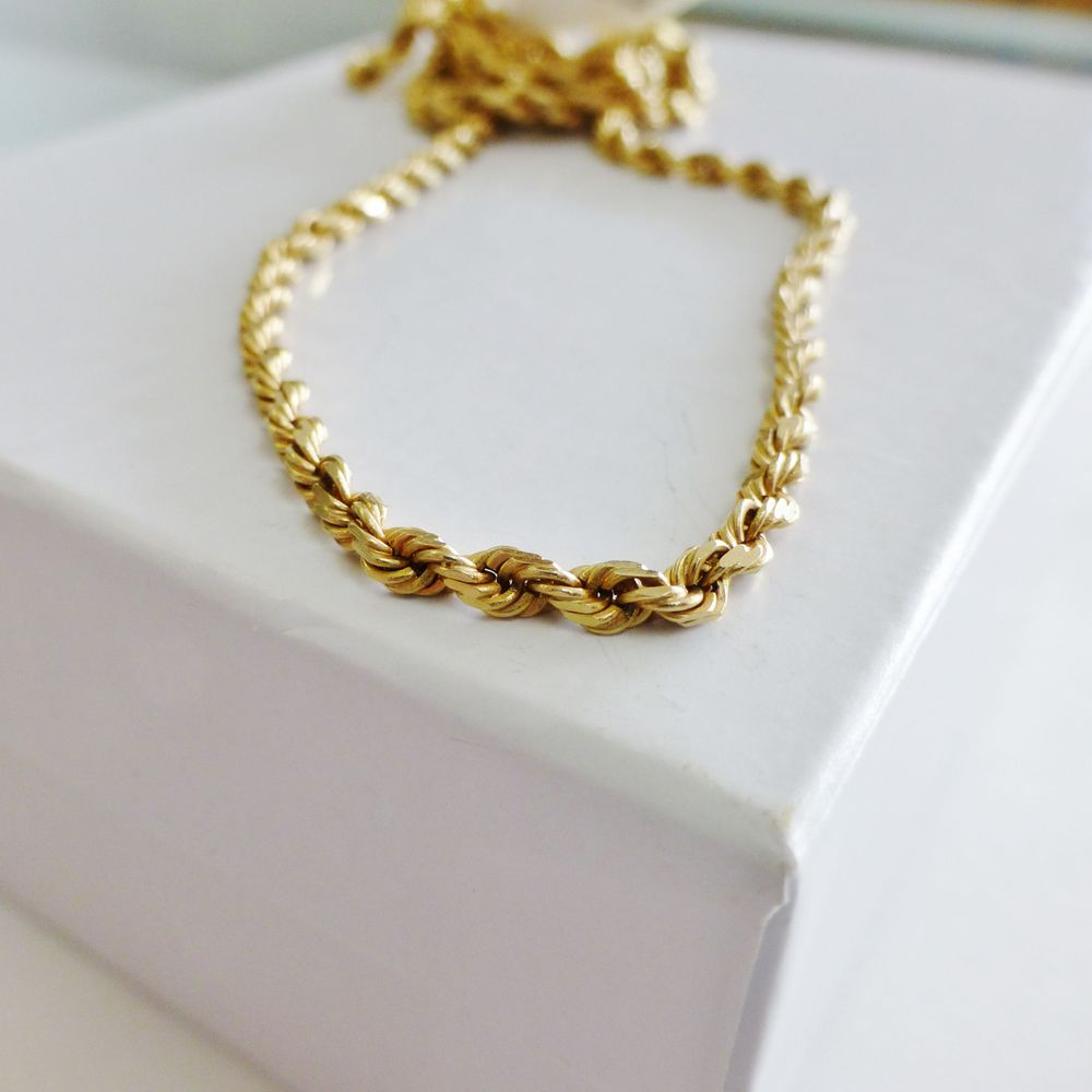 14K Yellow Gold Twisted Rope Necklace