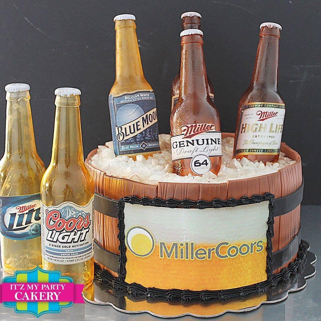 Miller Beer Bottles Dimensional Cake Milwaukee