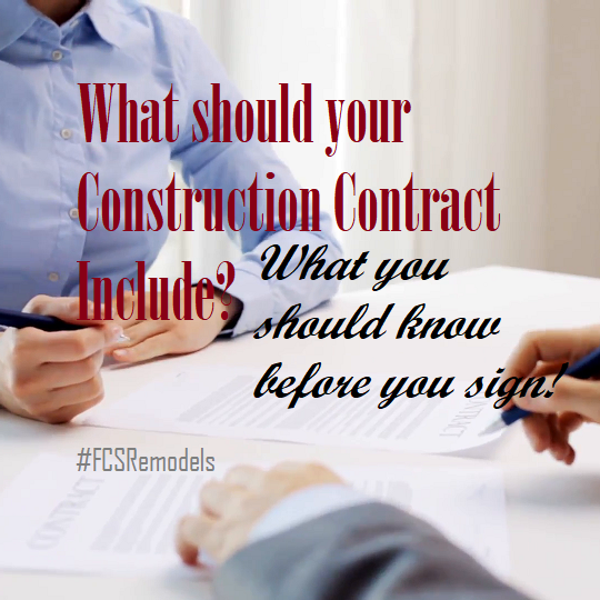What should your Construction Contract include?