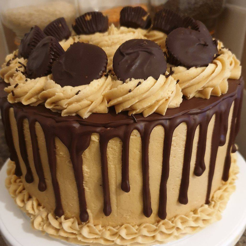 Vegan Chocolate Peanut Butter Cake