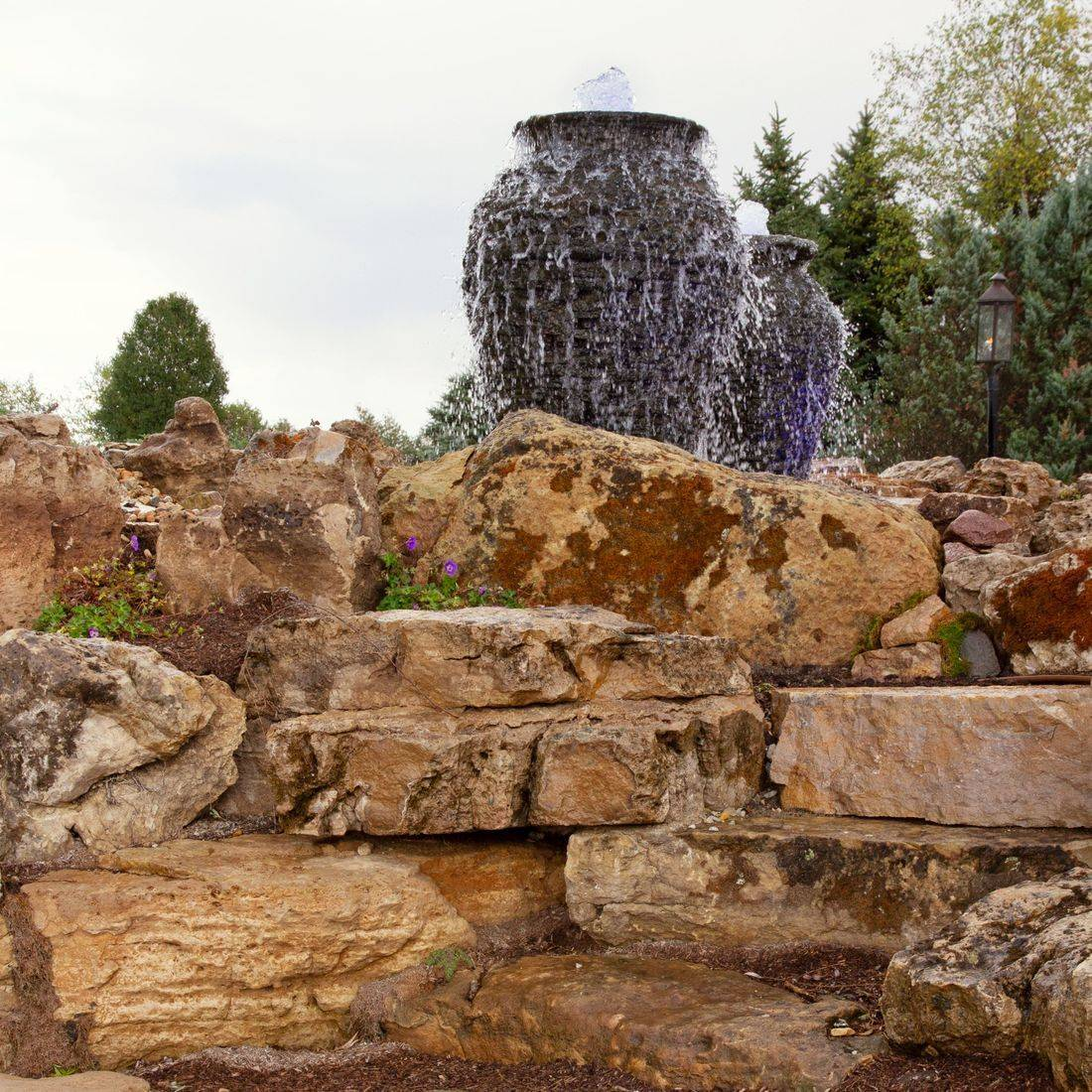 Water Feature Stacked Slate, Fountain
