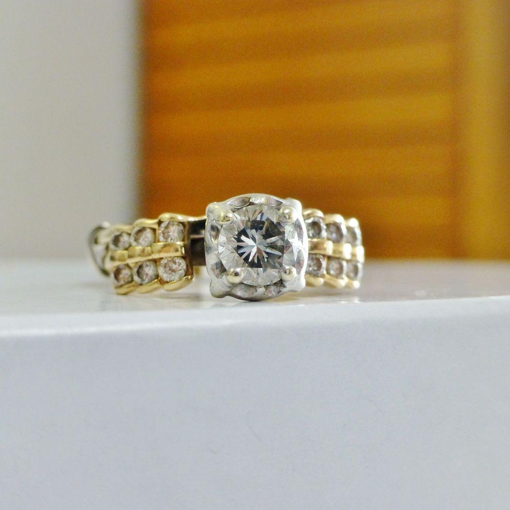 Illusion Set Round Diamond Solitaire With Diamond Enhancer Wedding Ring Set