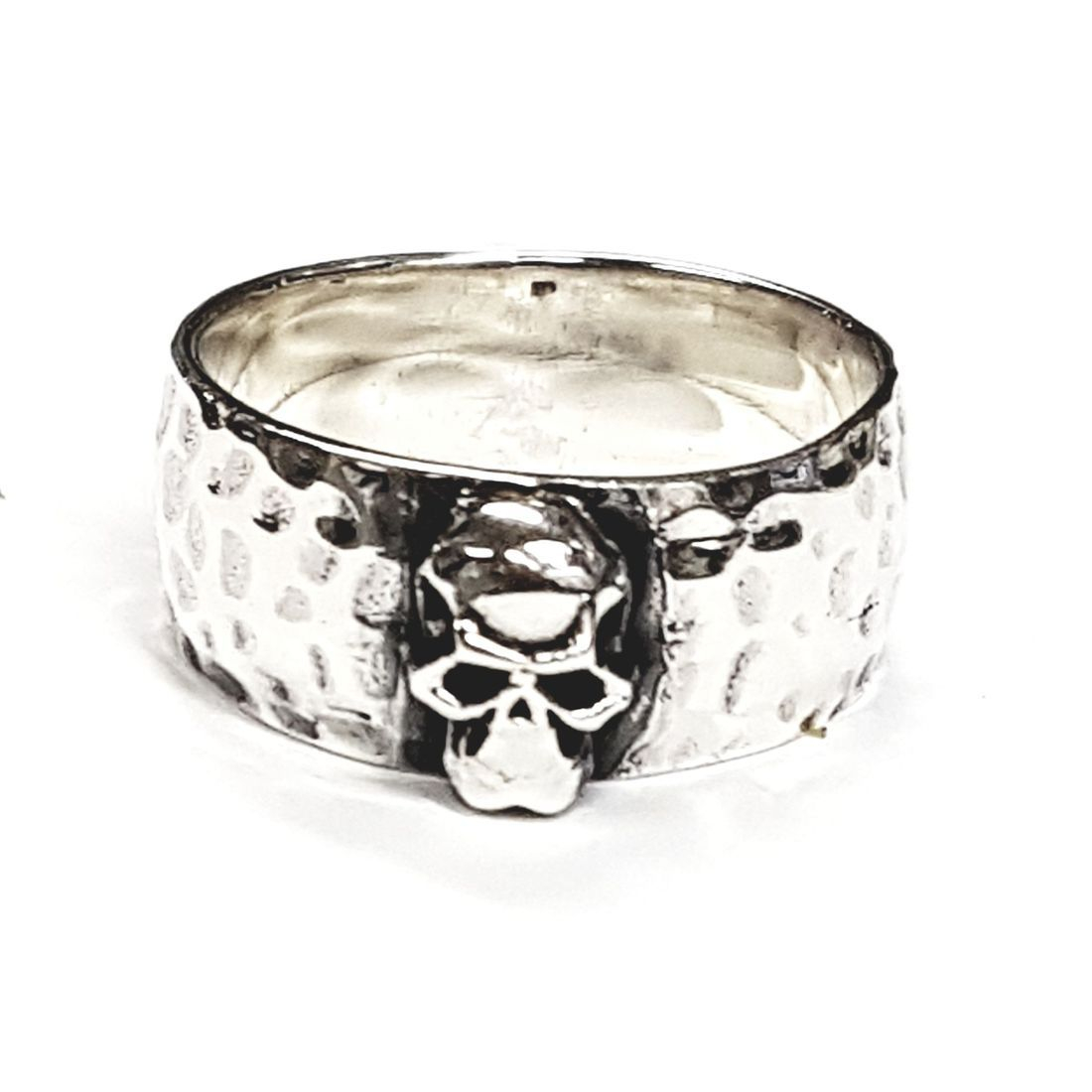 Solid silver skull ring available at Kazbah online and our Leicester City Centre Shop