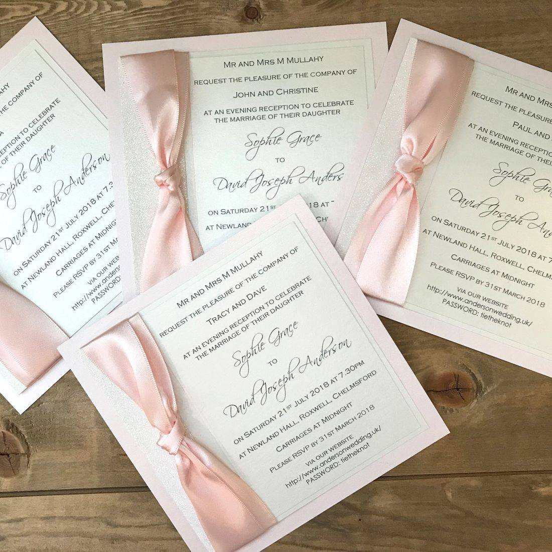 ribbon Tied Evening Invitation
