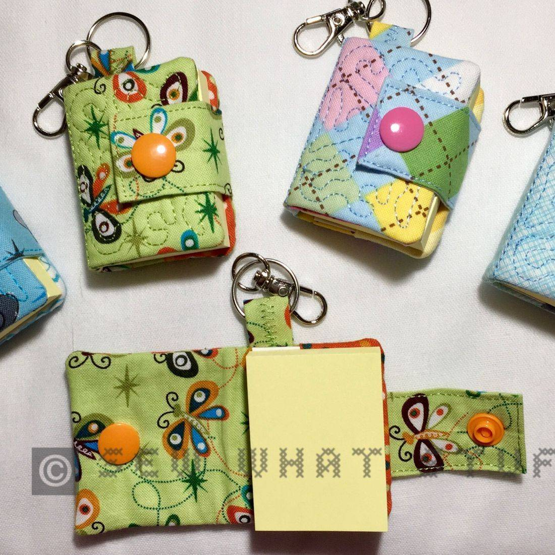 Mini Post it Note Key Tag/Zipper Pull