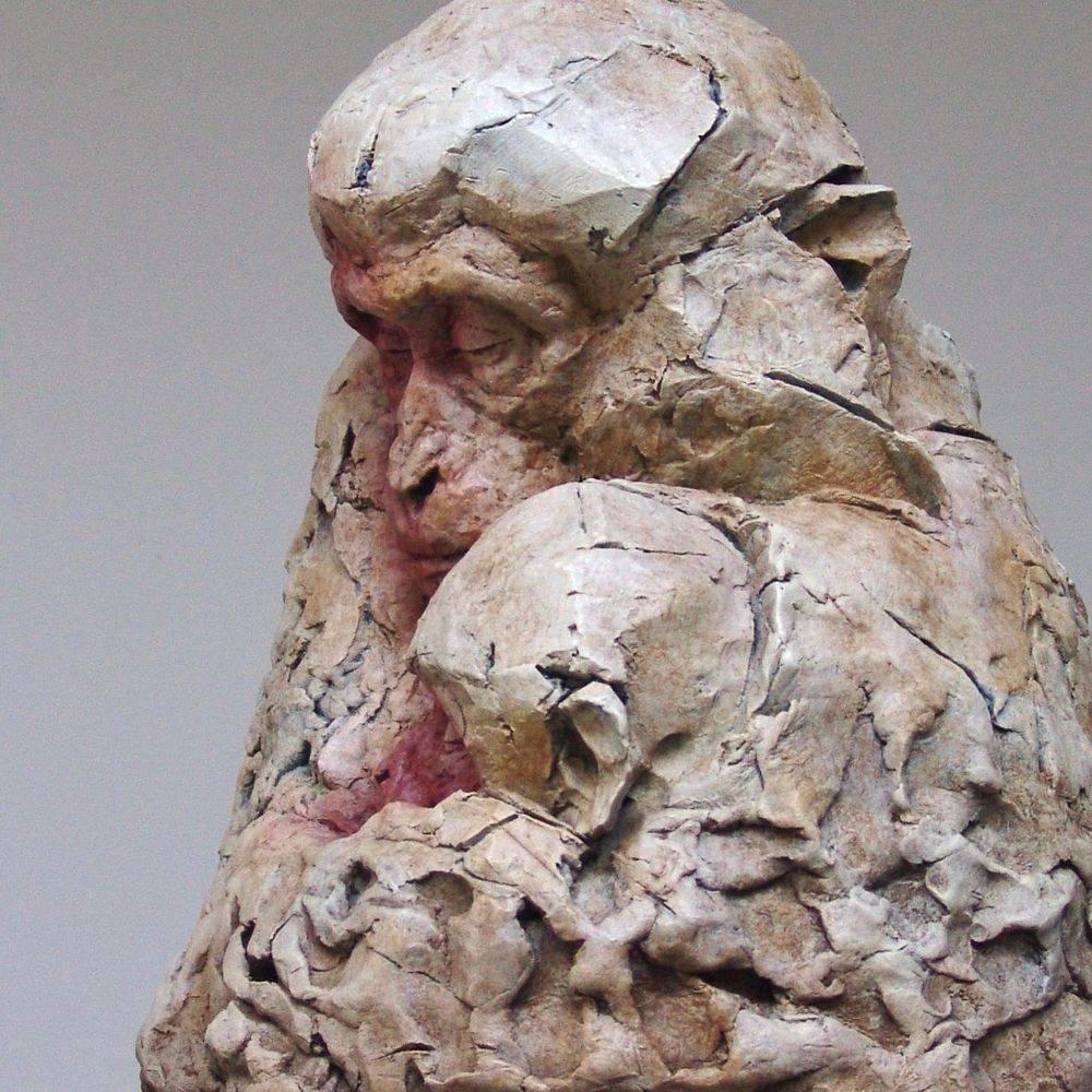 Bronze Sculpture. Japanese Macaques