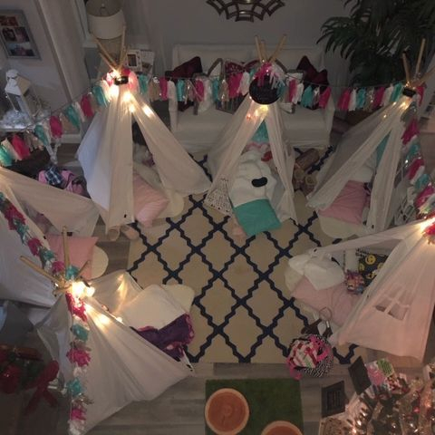 kids party rentals, teepee rentals, kids birthday parties, sleepover parties, sleepover party, kids party planner, Newport Beach, Orange County, California