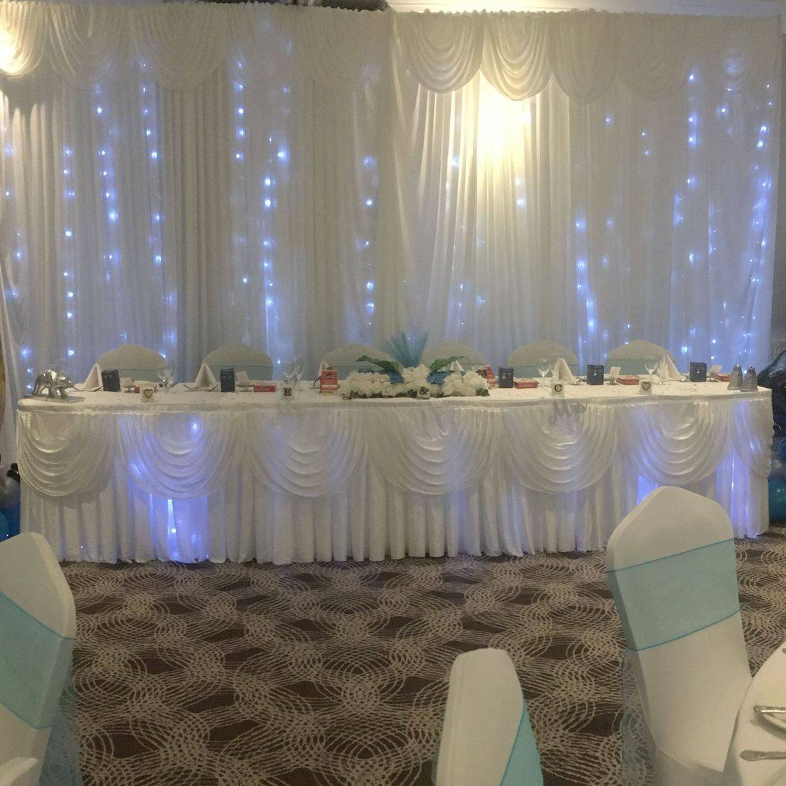 Starlight Curtain and Top Table Skirt