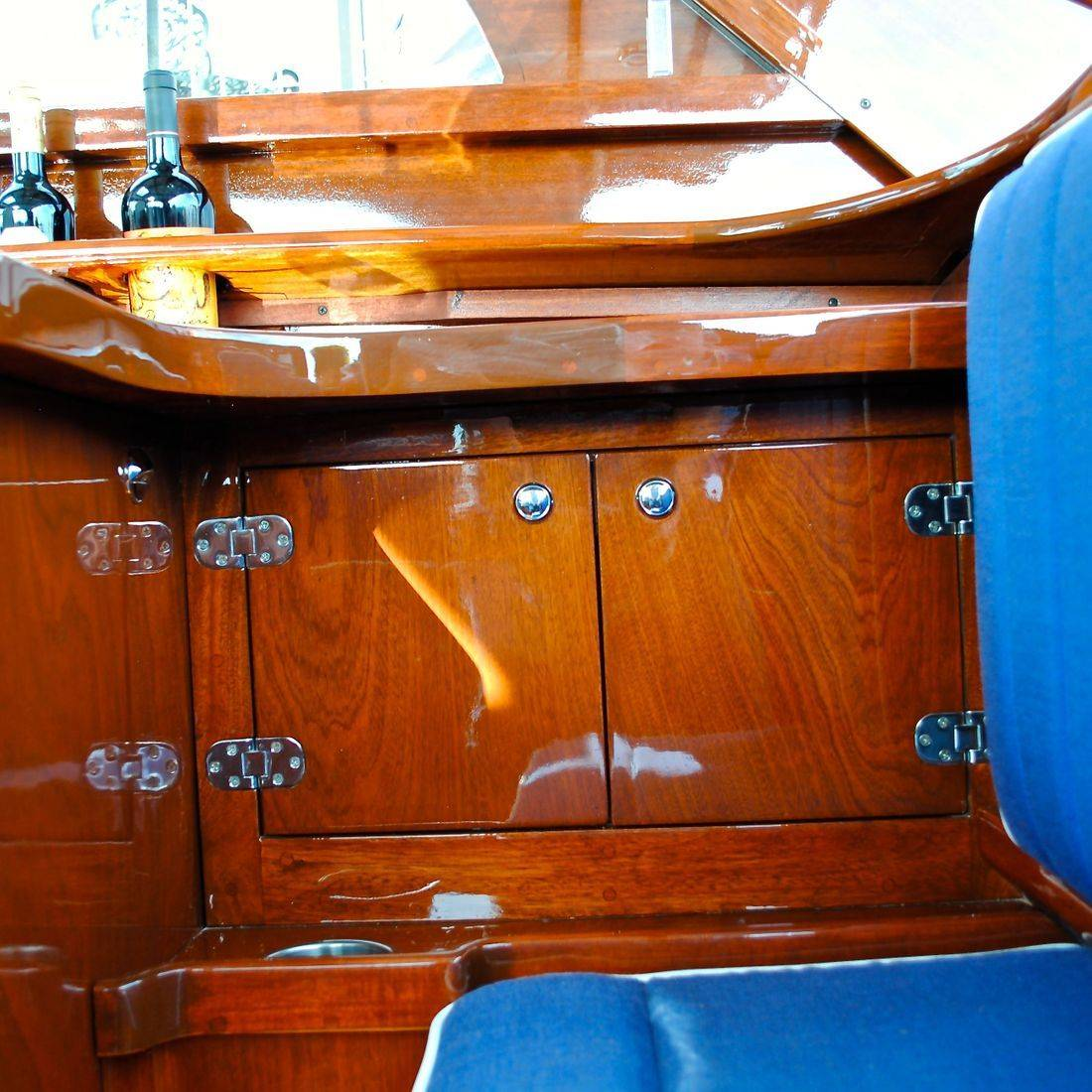Custom wetbar by Bergersen Wood Boat Restoration