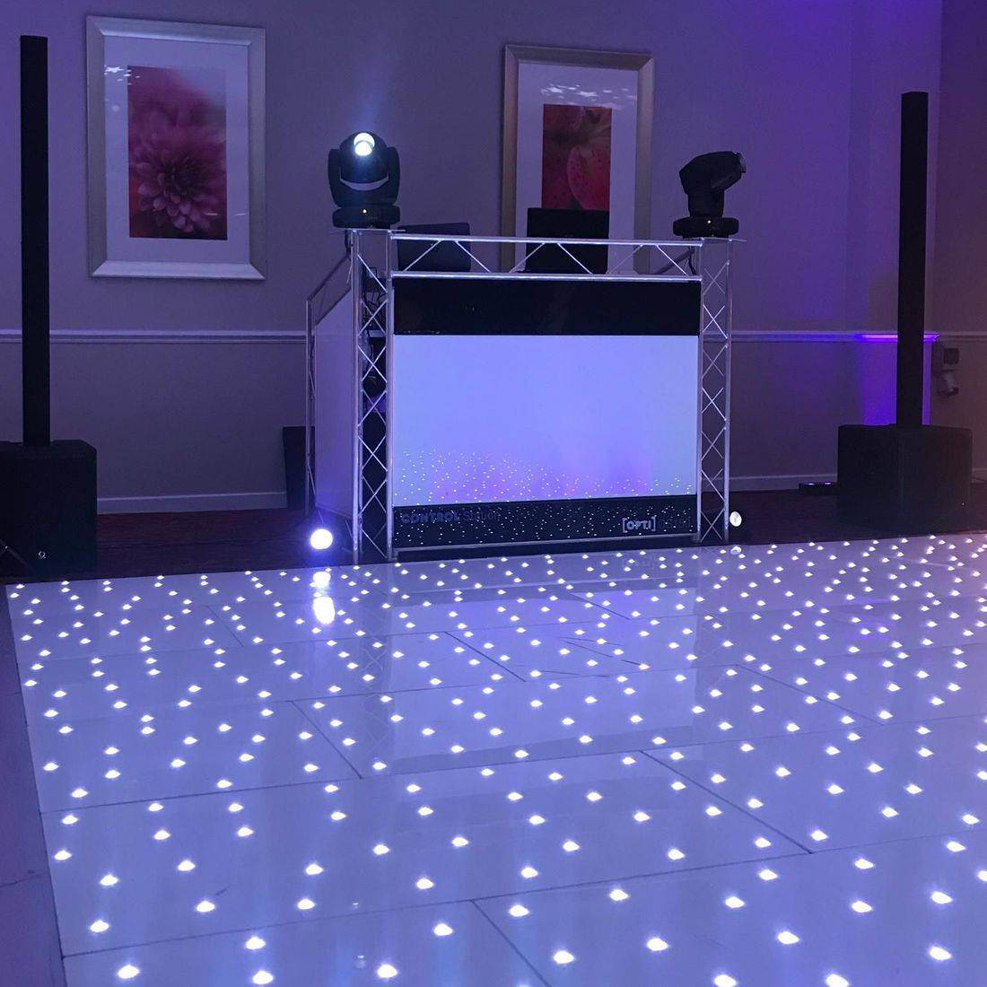 LED Starlit Dancefloor Worcesterhsire led Dancefloor Hire