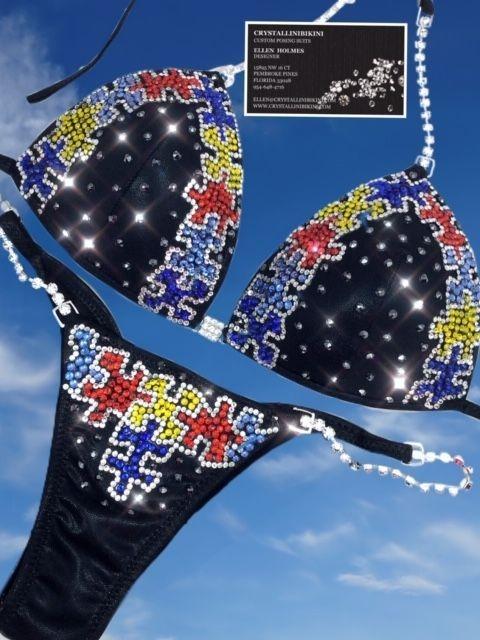 autism puzzle competition bikini