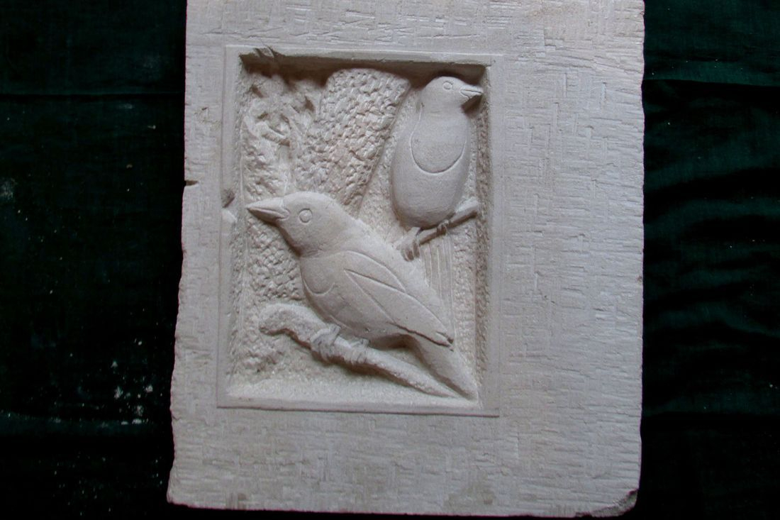 www.colebrookestoneandclay.com,james,hourigan,carving,relief,Portland,bird,colebrookestoneandclay.com,james,hourigan,stone,carving,relief,portland,bird,leaves