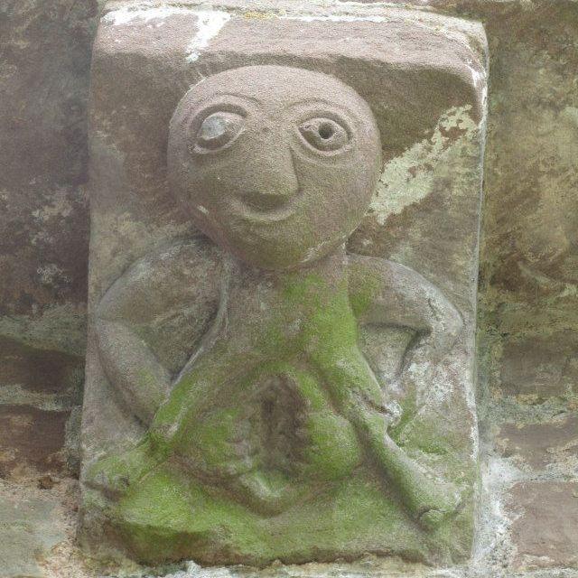 Earthmoves fertility goddess  energy Sheela na gig stone