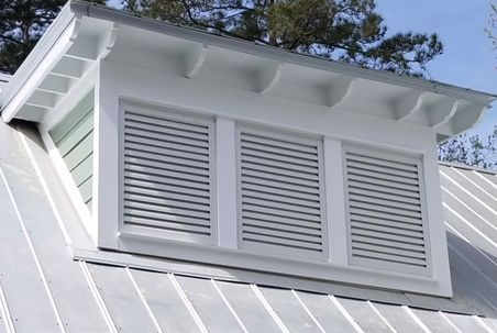 three wide gable vent