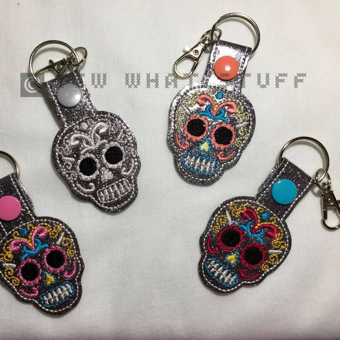 Sugar Skull Key Tag/Zipper Pull
