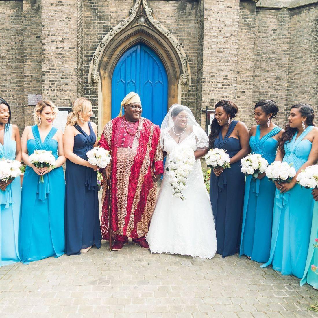 Wedding dress and 8 bridesmaids!