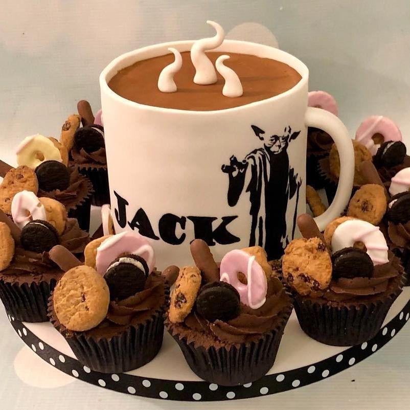 Tea Coffee Mug Birthday Cake Star Wars Cupcakes Biscuits Cookies