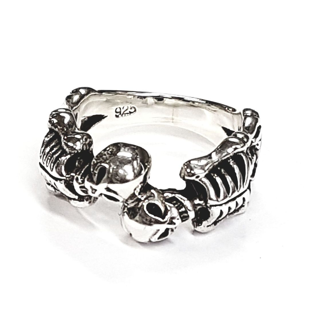 Solid Silver skeleton ring available at Kazbah online and our Leicester city centre shop