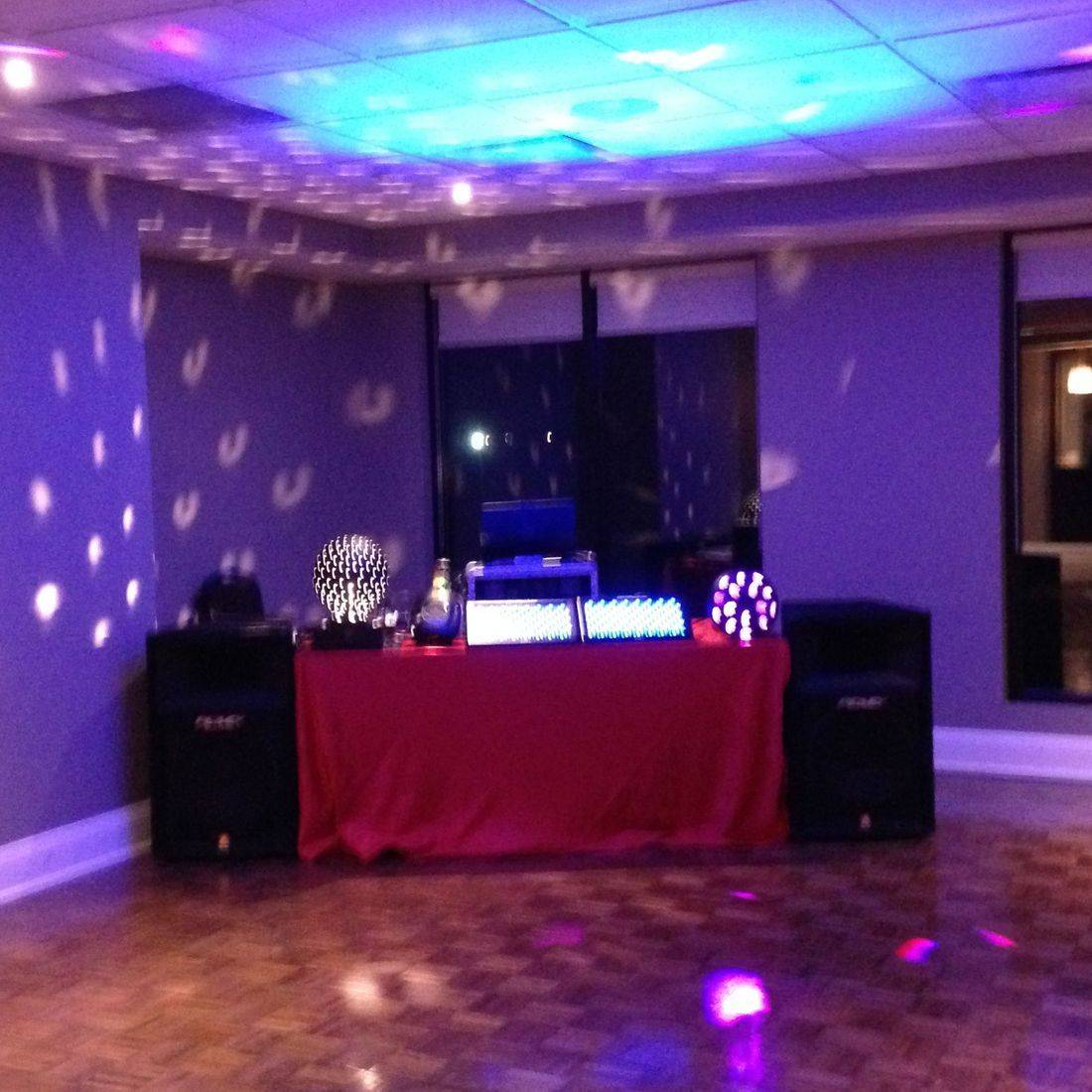 Mr. Productions DJ Service deejaying at a Christmas Party at the Dundas Valley Golf and Curling Club.