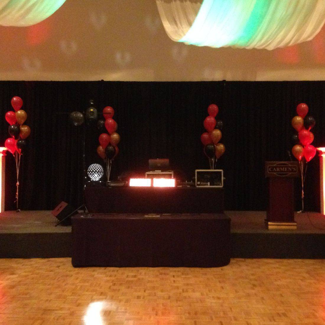 Mr. Productions DJ Service deejaying the Mcmaster University Fireball at Carmens Banquet Hall in Hamilton.